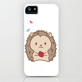 Hedgehog Gift Print Cute Strawberry Hedgehogs Kids Adult Product iPhone Case