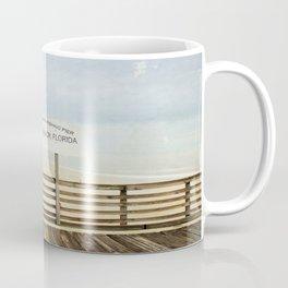 Jacksonville Beach Pier Sign Coffee Mug