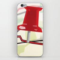 paper towns iPhone & iPod Skins featuring Paper Towns by Dreki