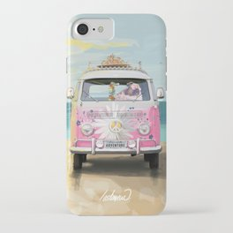 Pug Girly Adventure Peace iPhone Case