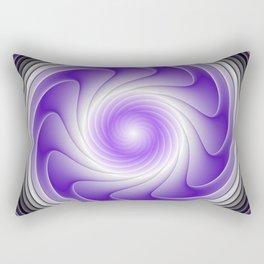 The Power Of Purple, Modern Fractal Art Graphic Rectangular Pillow