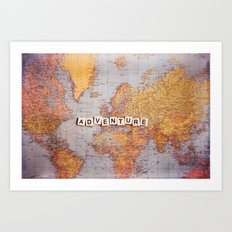 adventure map Art Print