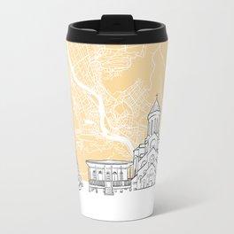 Tbilisi Georgia Skyline Map Travel Mug
