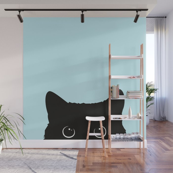 Black cat I Wall Mural