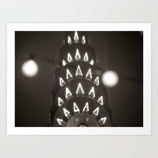 Empire State Lights Art Print