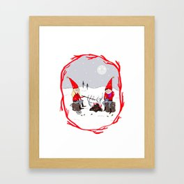 Snow and Stories Framed Art Print