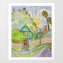 SouthPas Art Print