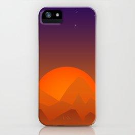 Slumbering Hills, Southwestern Landscape Art iPhone Case