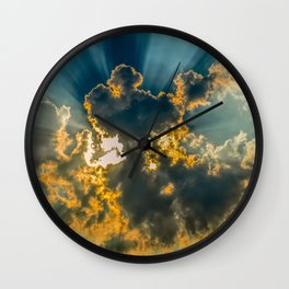 Sun Coming Through the Clouds Wall Clock