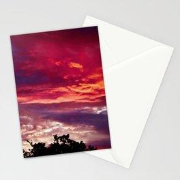 Brillant Wispy Sunset in Bird Island, MN Stationery Cards