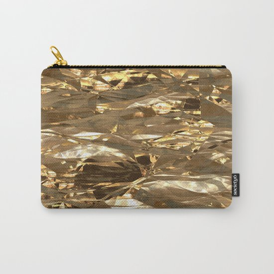 Gold Metal Carry-All Pouch