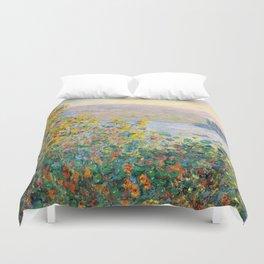 Flower Beds at Vétheuil by Claude Monet 1881 Duvet Cover