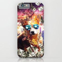 Bling Money Corgi Dog Thug iPhone Case
