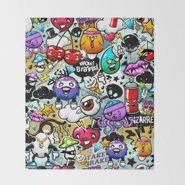 Bizarre Graffiti #1 Throw Blanket