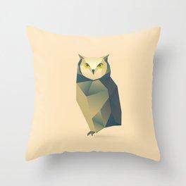 Geometric Owl - Modern Animal Art Throw Pillow