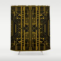 da vinci Shower Curtains featuring Da Vinci Code by CYRUSCOPE