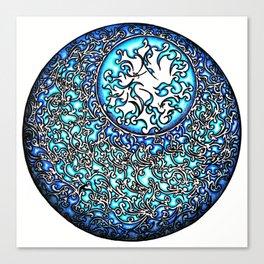 Blue Fire (2) Canvas Print