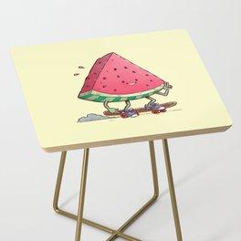 Watermelon Slice Skater Side Table