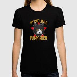 My Cat Loves Punk Rock T-shirt