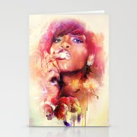 rihanna Stationery Cards featuring Rihanna by turksworks