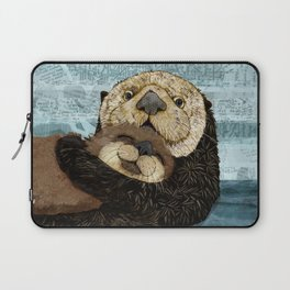 Sea Otter Mother and Baby Laptop Sleeve