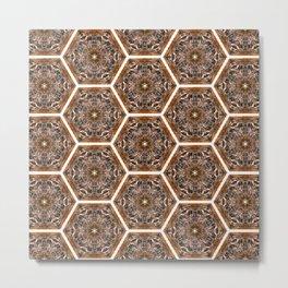 Well Owl Bee Metal Print