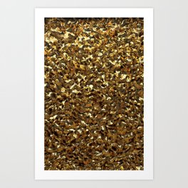Crumpled Gold Art Print