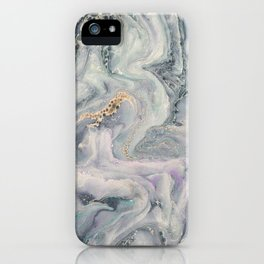 Marbled Metallic paper iPhone Case