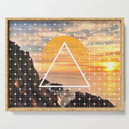 Californian Sunset - Graphic Serving Tray