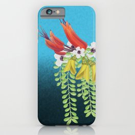 Flax, Kowhai and Manuka Flowers iPhone Case