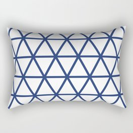Navy Triangle Pattern 2 Rectangular Pillow