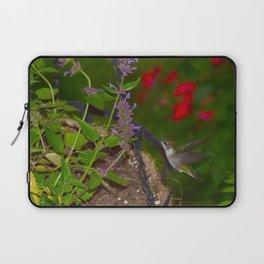 Hanging basket hummingbird with bee balm 52 Laptop Sleeve