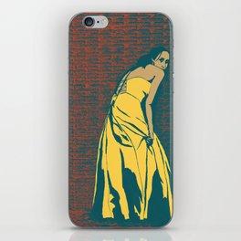 Lady in Yellow Dress iPhone Skin