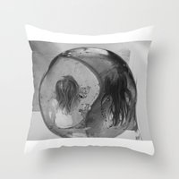 ying yang Throw Pillows featuring Ying Yang by MarianneVidal