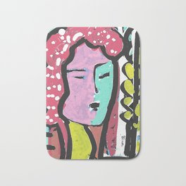 French Bus ticket recycled Art Portrait Bath Mat