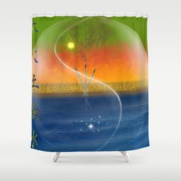 Feng Shui five elements Shower Curtain