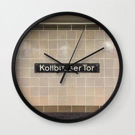 Berlin U-Bahn Memories - Kottbusser Tor U8 Wall Clock