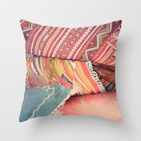 moroccan Throw Pillows featuring Moroccan by Paint Pattern Photo