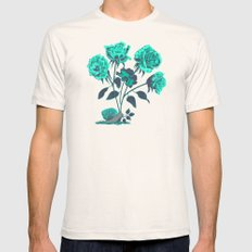 Snails N' Roses Mens Fitted Tee SMALL Natural