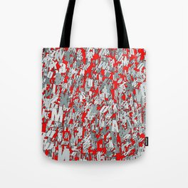 The letter matrix RED Tote Bag
