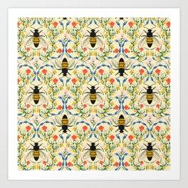 Bee Garden - Cream Kunstdrucke
