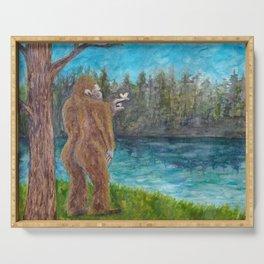 Bigfoot at the Lake Serving Tray