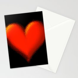 Big broken mirror red heart Stationery Cards