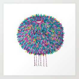 Poofy Cozyloaf Art Print