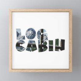 Log Cabin Framed Mini Art Print