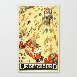 The Lure Of The Underground Canvas Print