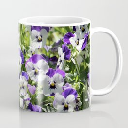 Perky Face Pansies Coffee Mug