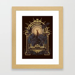 First They Must Catch You Framed Art Print