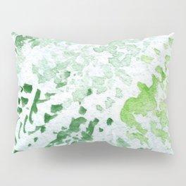Green Serene Watercolor Pillow Sham