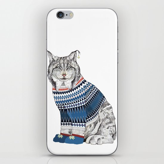 Christmas Lynx // Festive Furries No.1 iPhone & iPod Skin